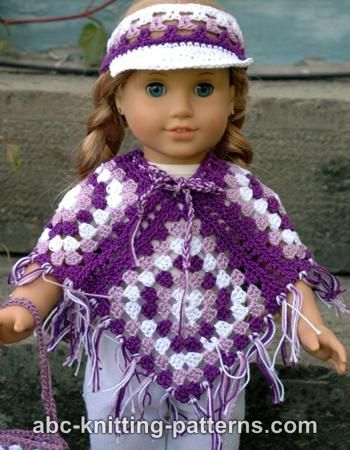 Crochet Patterns Galore American Girl Doll Granny Square Poncho