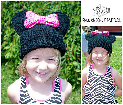 Crochet Patterns Galore Mouse Hat With Bow