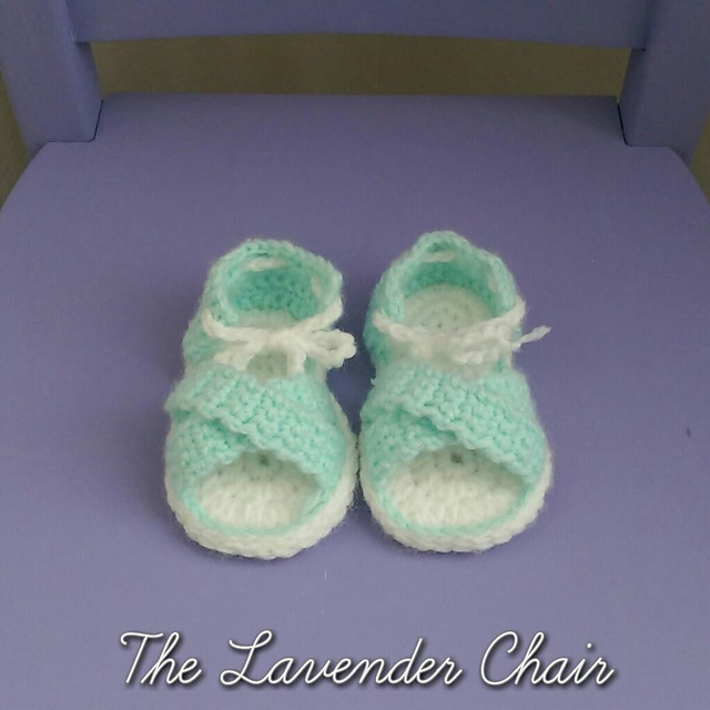 Crochet Patterns Galore Crisscross Baby Sandals