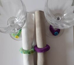 Girls' Night In Napkin Rings and Wine Glass Charms