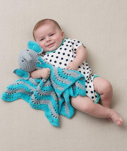 Crochet Patterns Galore Cutie Elephant Blankie