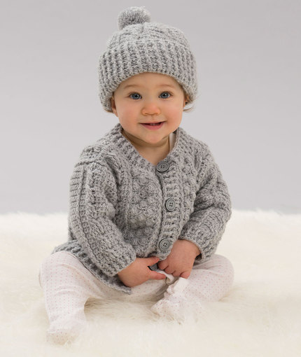Crochet Patterns Galore Aran Stitch Cardigan Hat