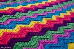 Rainbow Ridge Afghan