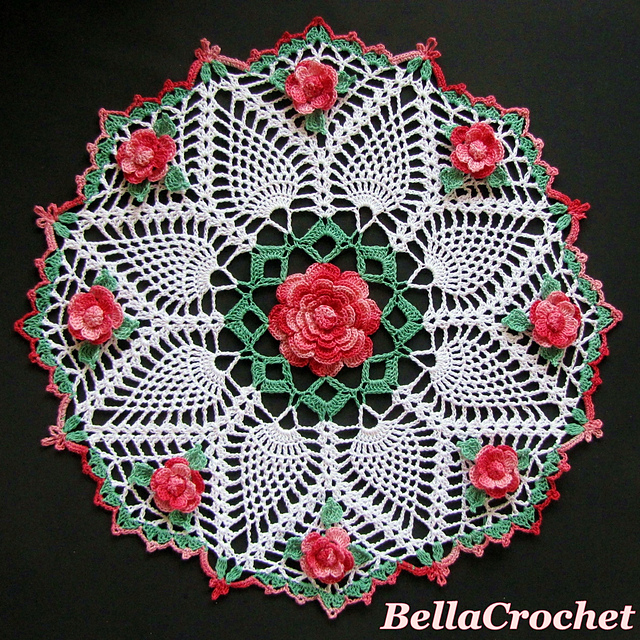 Crochet Patterns Galore Dorothys Roses Doily