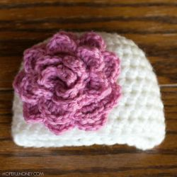 Rosy Newborn Hat