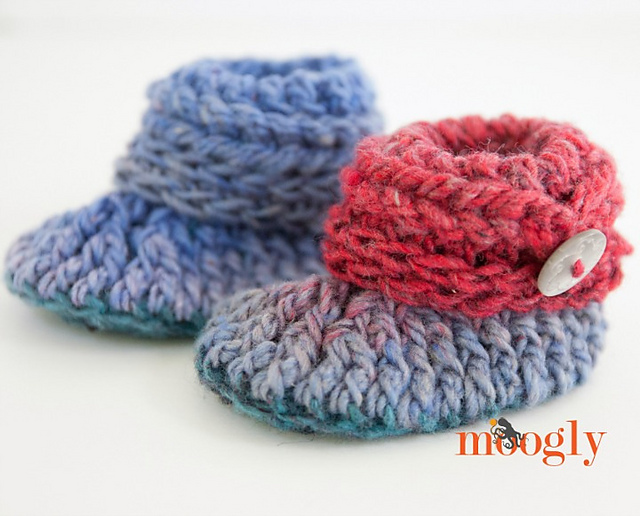 Crochet Patterns Galore - Ups and Downs Baby Booties