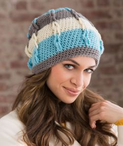 Stripe It Slouchy Hat