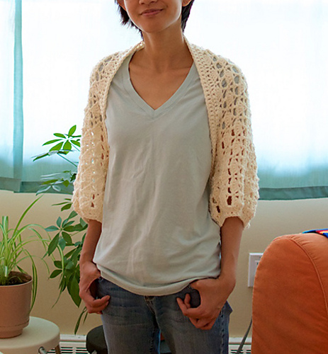 Crochet Patterns Galore Ginkgo Shrug