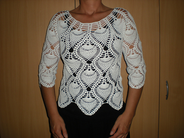Crochet Patterns Galore White Pineapple Top