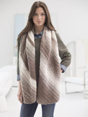 Crochet Patterns Galore Diagonal Shaded Shawl