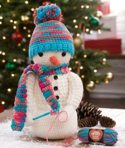 Crocheting Snowman