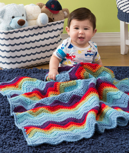 Crochet Patterns Galore - Zigzag Baby Blanket