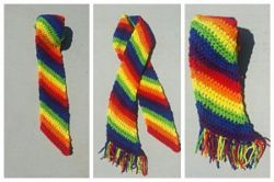 Brightly Colored Rainbow Scarf