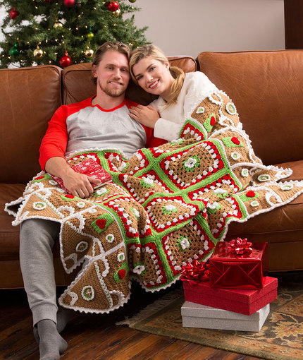Crochet Patterns Galore Gingerbread House Throw