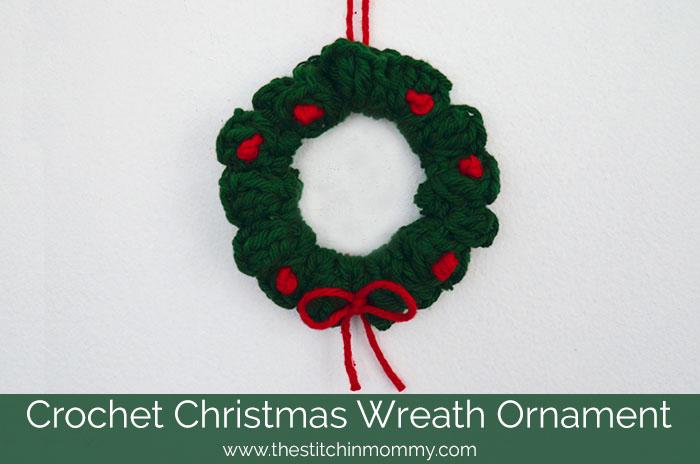 Crochet Patterns Galore - Christmas Wreath Ornament
