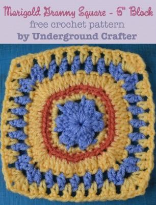 Crochet Patterns Galore : Crochet Patterns Galore - Marigold Granny Square