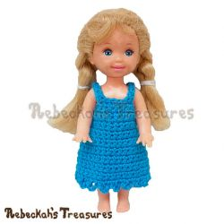 Simply Bluetiful Child Fashion Doll Dress