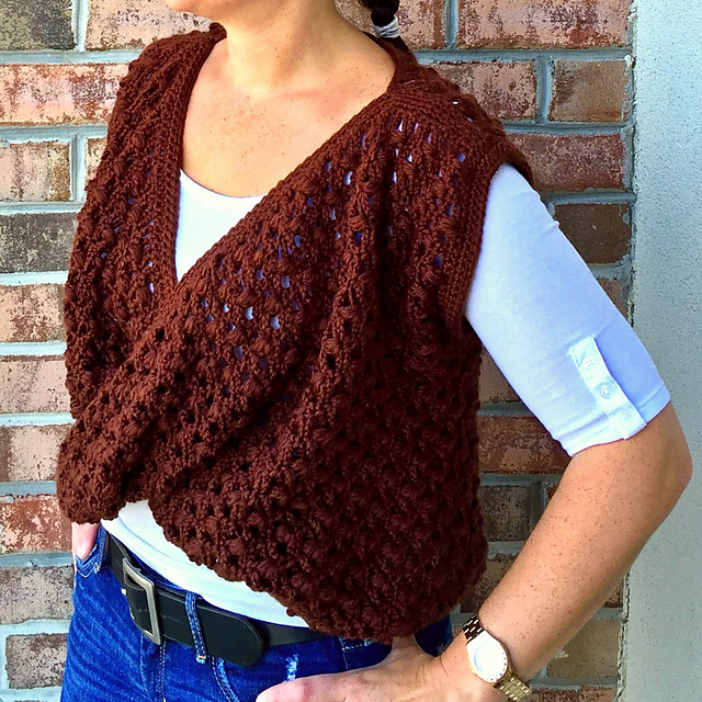 Crochet Patterns Galore Berry Vine Twist Front Top