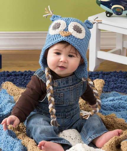 Crochet Patterns Galore Owl Baby Hat