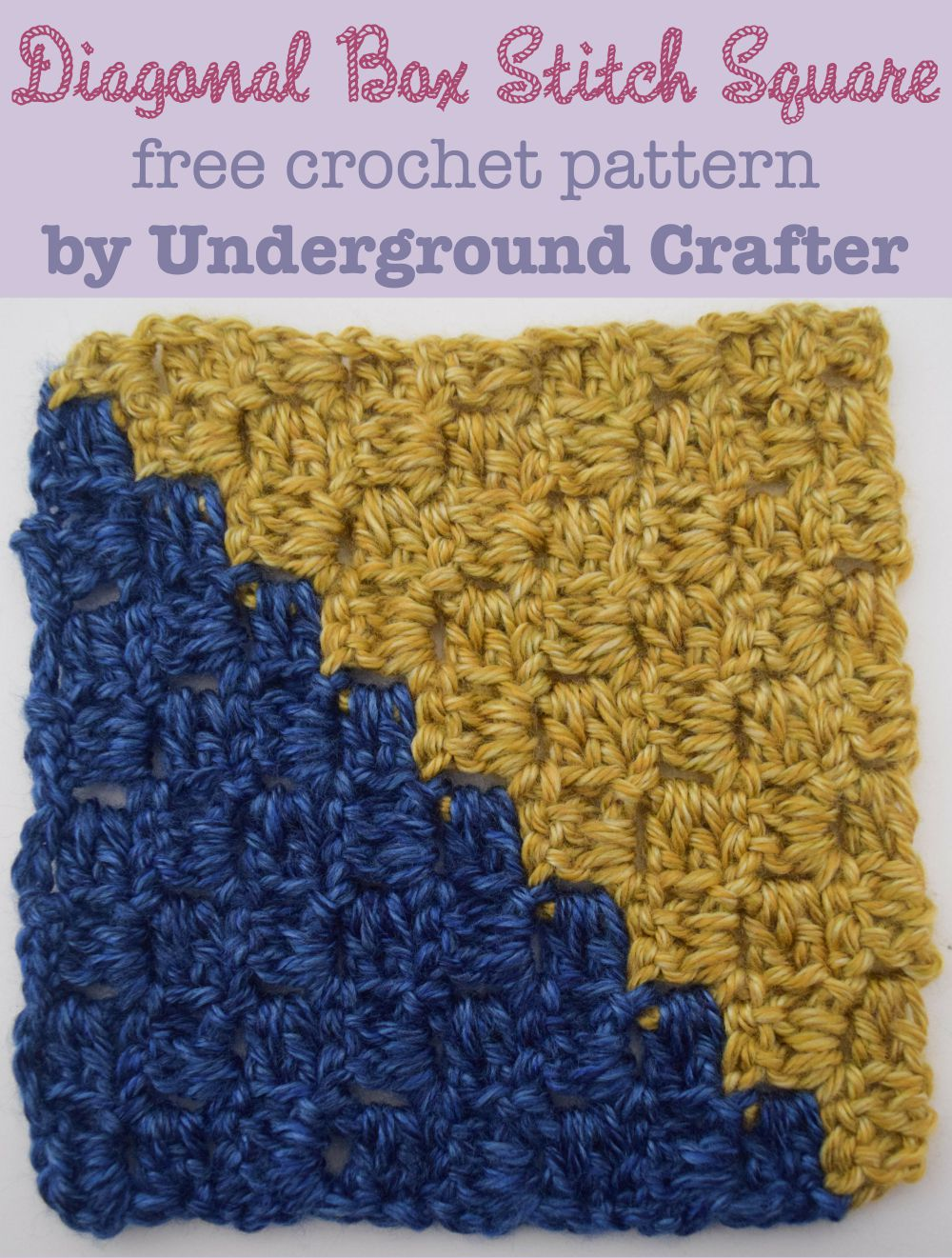 Crochet Patterns Galore - Diagonal Box Stitch Square