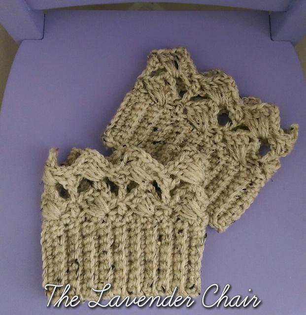 Crochet Patterns Galore Textured Fan Boot Cuffs