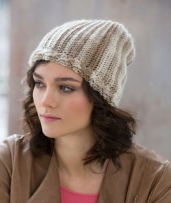 Cable & Rib Slouchy Hat