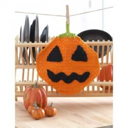 Jack'o Lantern Dishcloth