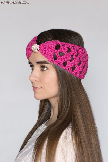 Crochet Patterns Galore Lacy Lattice Headband