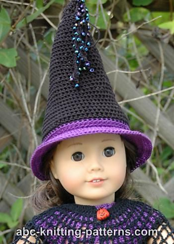 Free Knitting Pattern Witch Doll : Crochet Patterns Galore - American Girl Doll Witchs Hat