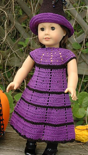 Crochet Patterns Galore American Girl Doll Witchs Dress