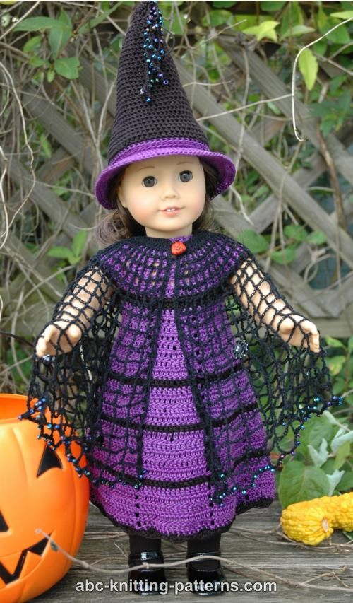 Crochet Patterns Galore American Girl Doll Witchs Cloak