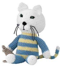 Crochet Kitty With Mouse