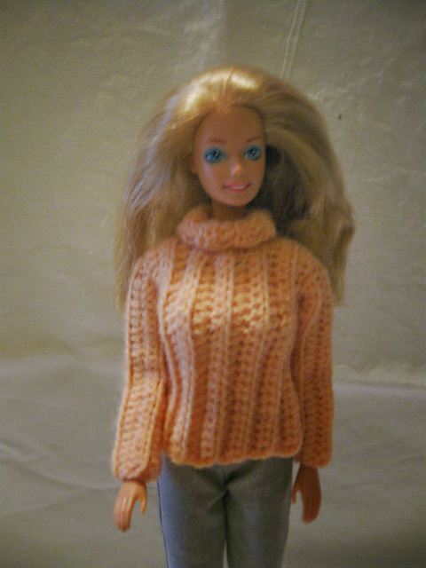 Crochet Patterns Galore Chunky Turtleneck Sweater For Barbie
