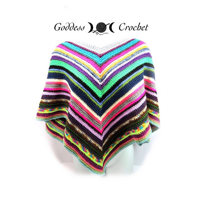 Crochet Patterns Galore Easy Peasy Poncho