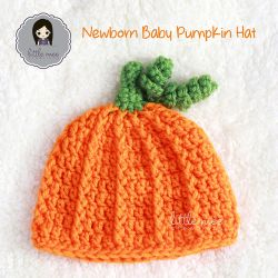 Newborn Baby Pumpkin Hat