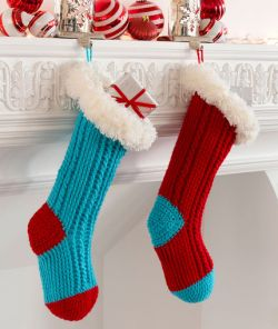 Fur Top Holiday Stockings