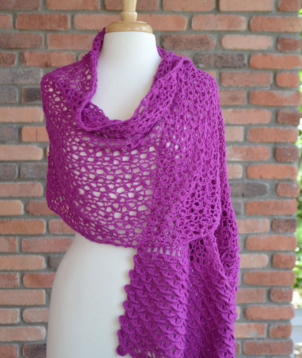 Crochet Patterns Galore Cherry Blossom Shawl