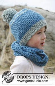 DROPS hat and neck warmer