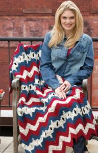 Stars & Stripes Ripple Throw