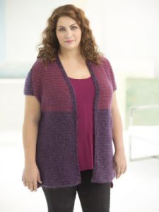 Curvy Girl Two-Tone Vest