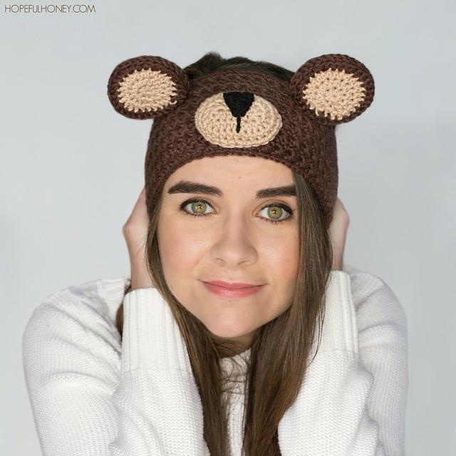 Crochet Patterns Galore - Teddy Bear Headband
