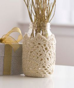 Sparkling Lace Jar Cozy