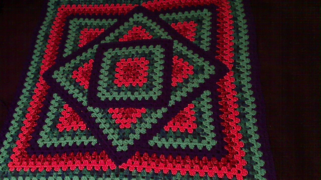 Crochet Patterns Galore Squared Diamond Granny Throw