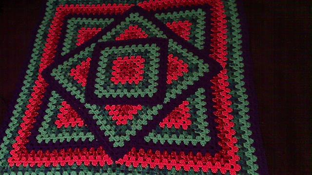 Crochet Patterns Galore - Squared Diamond Granny Throw