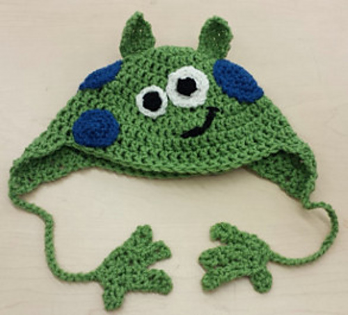 Crochet Patterns Galore Little Green Monster Hat