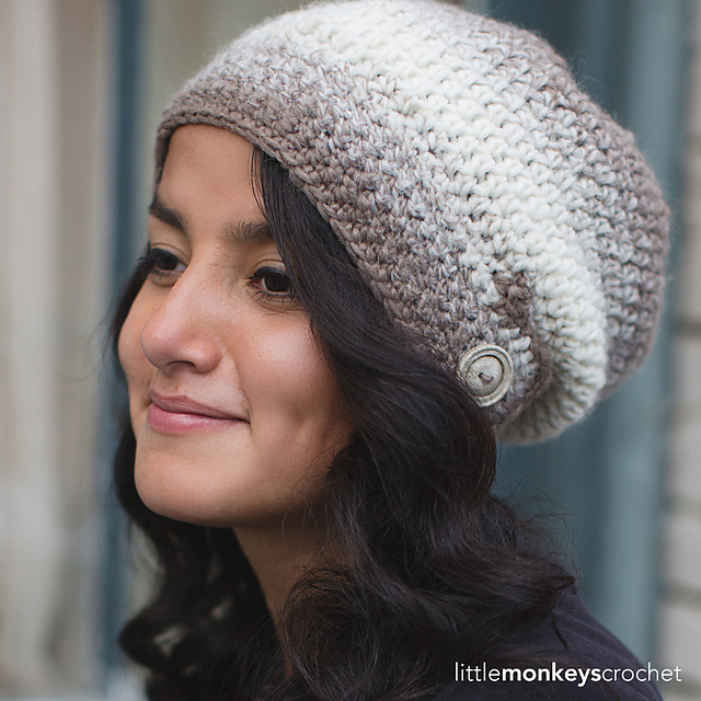 Crochet Patterns Galore Macchiato Slouch Hat