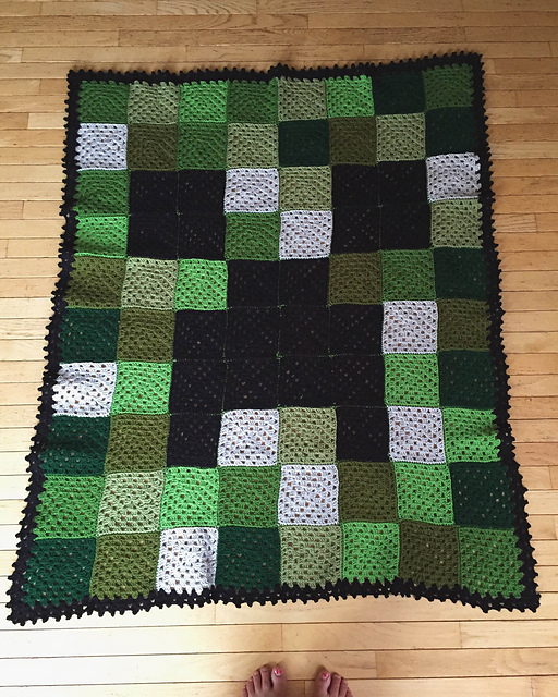 Crochet Patterns Galore Minecraft Creeper Blanket