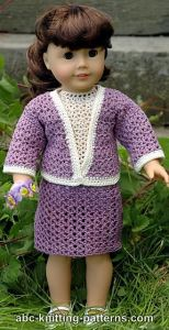 American Girl Doll Crochet English Garden Suit