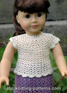 American Girl Doll Elegant Summer Blouse