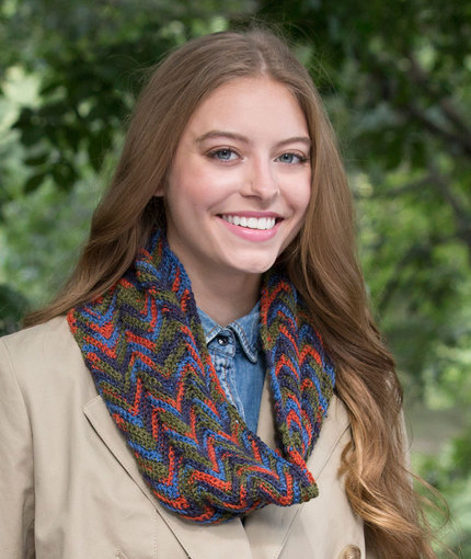Crochet Patterns Galore Autumn Breeze Ripple Cowl
